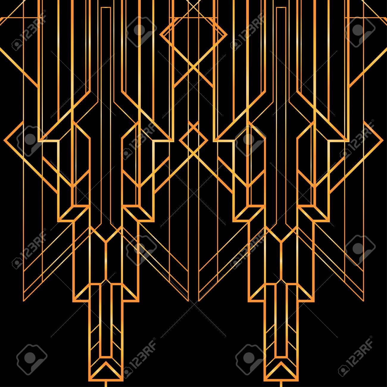 art déco motif géométrique (le style des années 1920) clip art