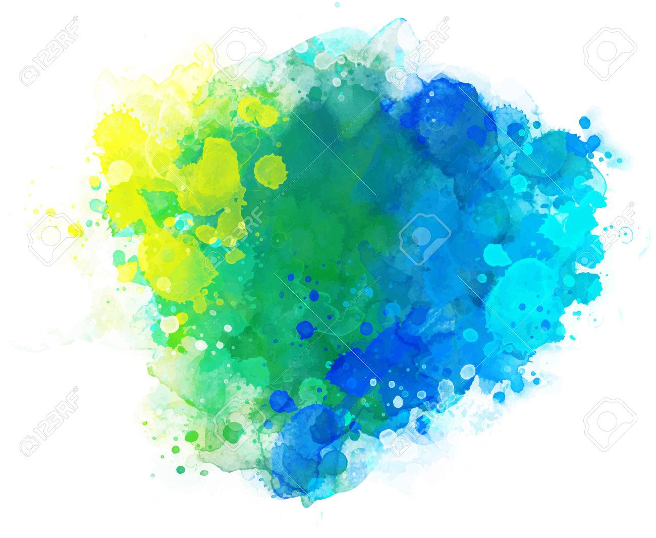 Abstract vector watercolor background isolated on white. - 44359071