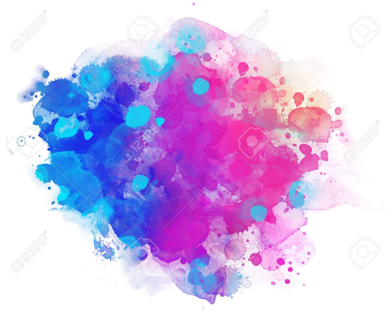 Abstract vector watercolor background isolated on white. - 44360228