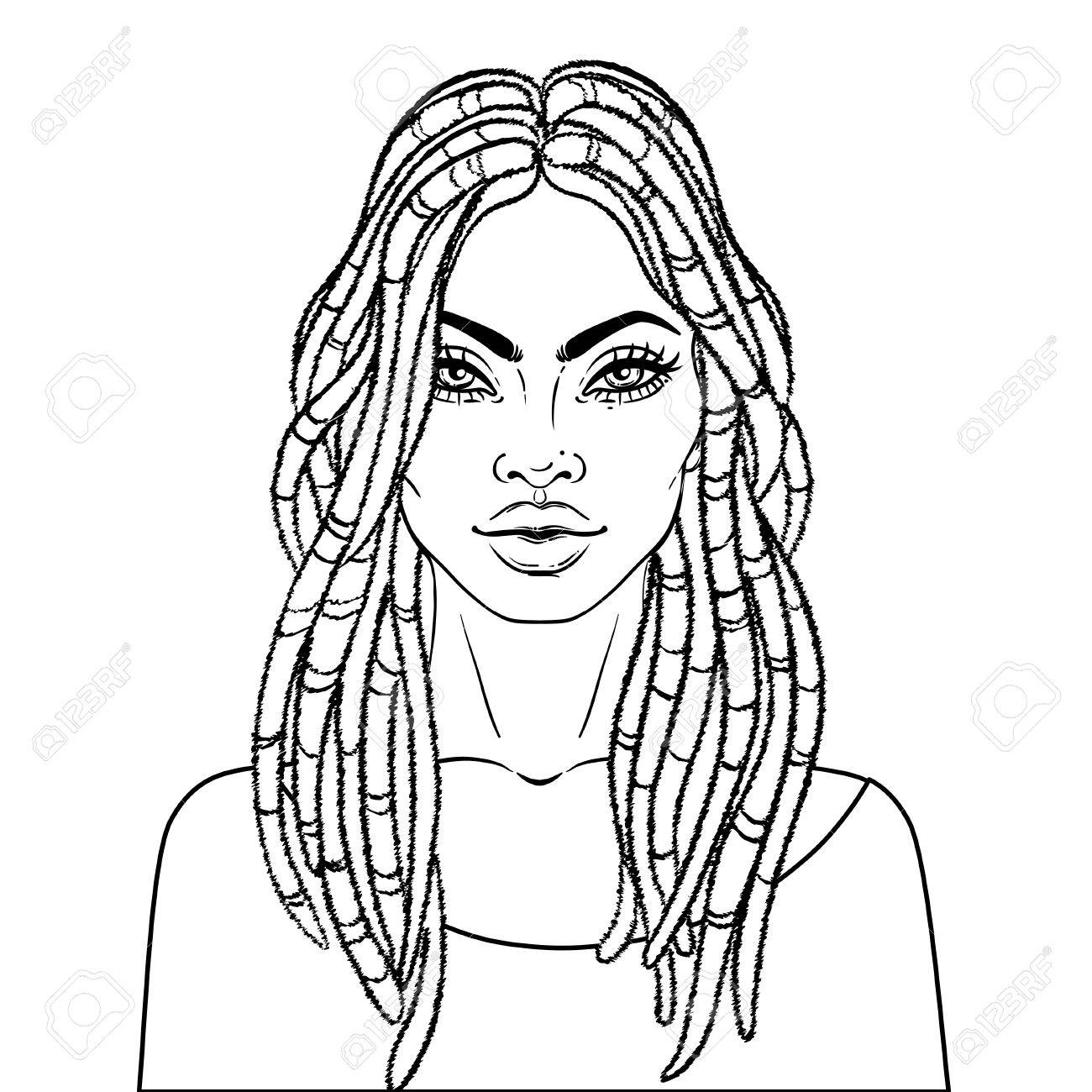 african american pretty girl vector illustration of black woman iPhone Emojis african american pretty girl vector illustration of black woman with dread locks glossy lips