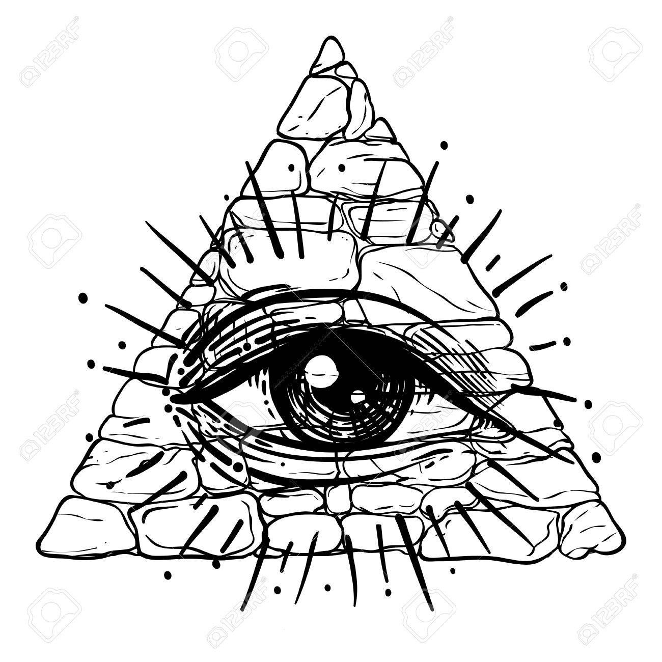 Eye Of Providence Masonic Symbol All Seeing Eye Inside Triangle