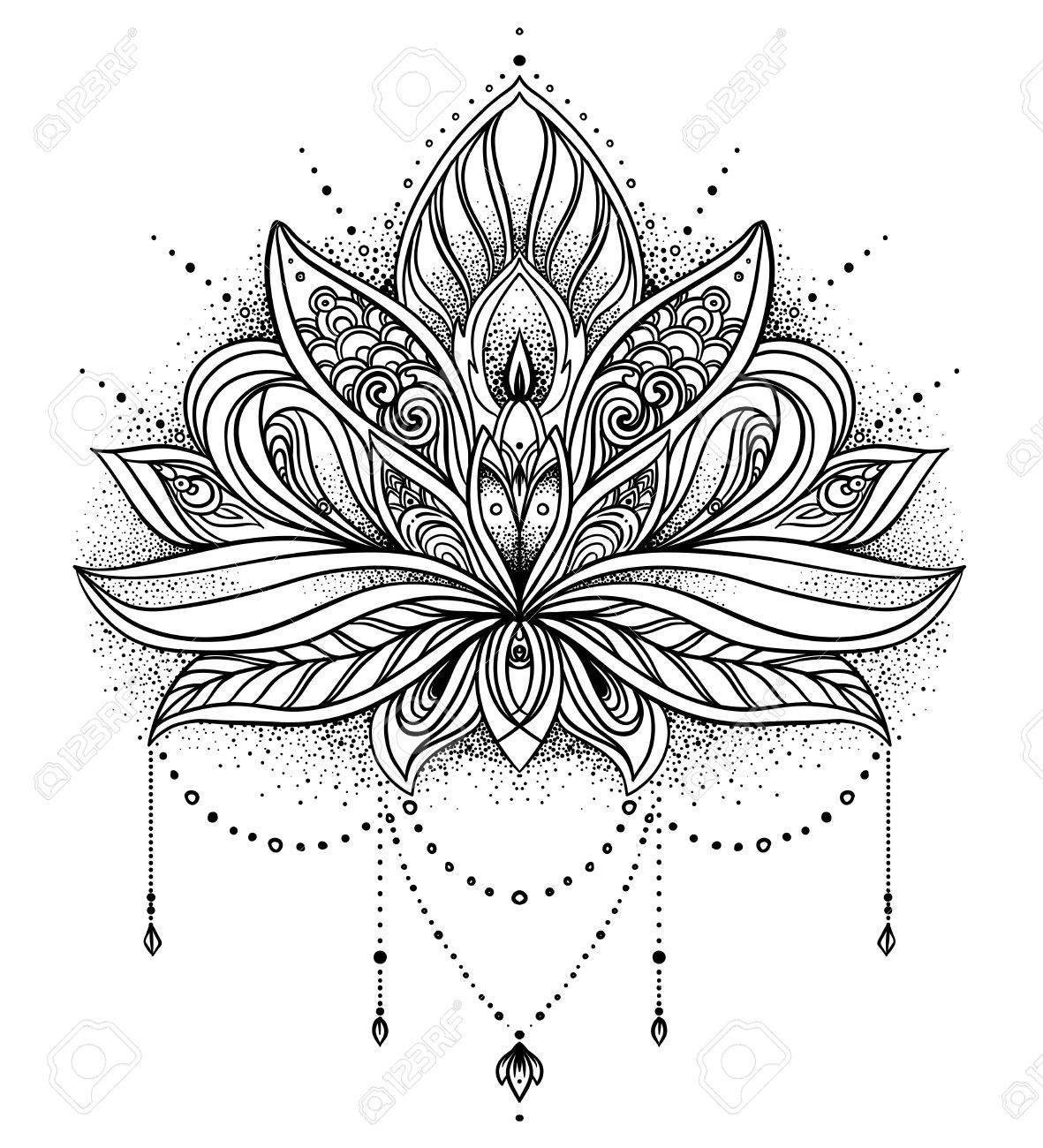 Indian Lotus Flower Tattoo 20429 Tweb