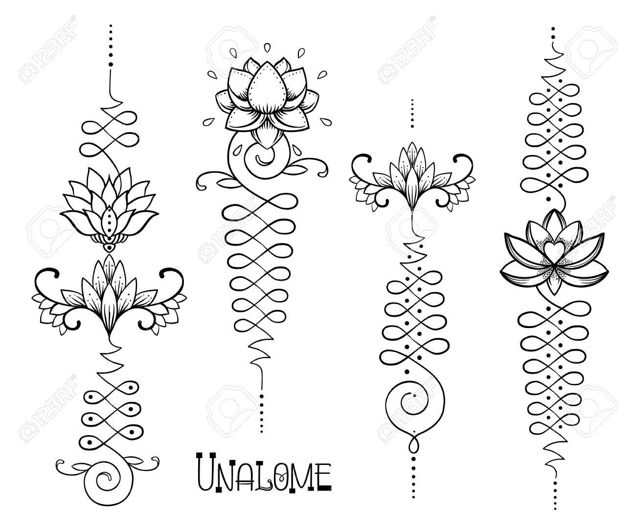 Lotus And Sacred Geometry Unamole Hindu Symbol Of Wisdom And
