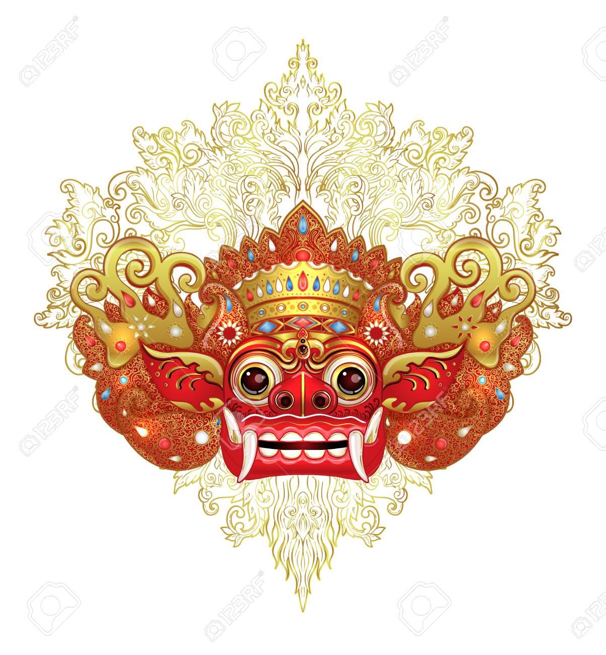 barong traditional ritual balinese mask vector color illustration royalty free cliparts vectors and stock illustration image 99538696 barong traditional ritual balinese mask vector color illustration