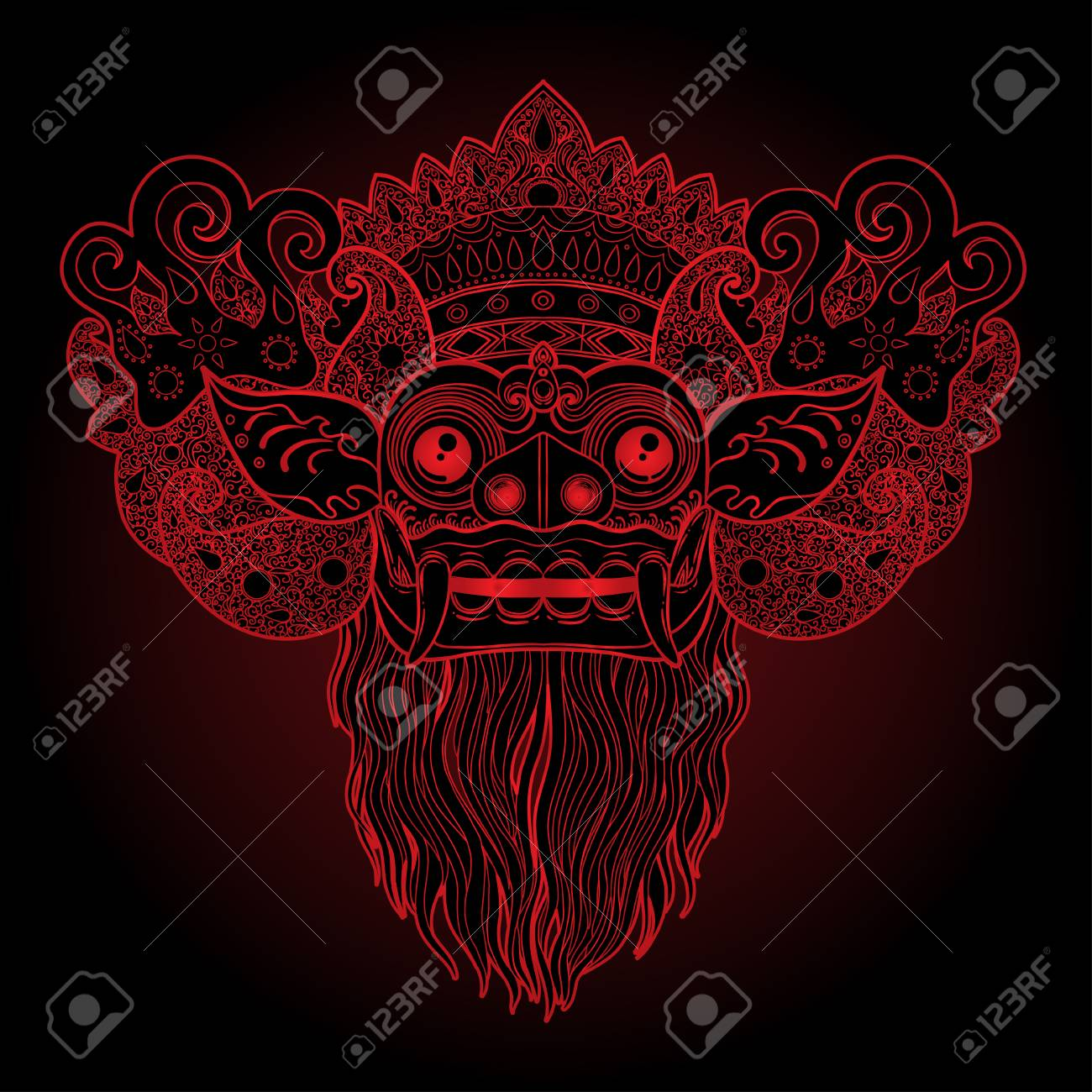 barong traditional ritual balinese mask vector color illustration royalty free cliparts vectors and stock illustration image 99545272 barong traditional ritual balinese mask vector color illustration