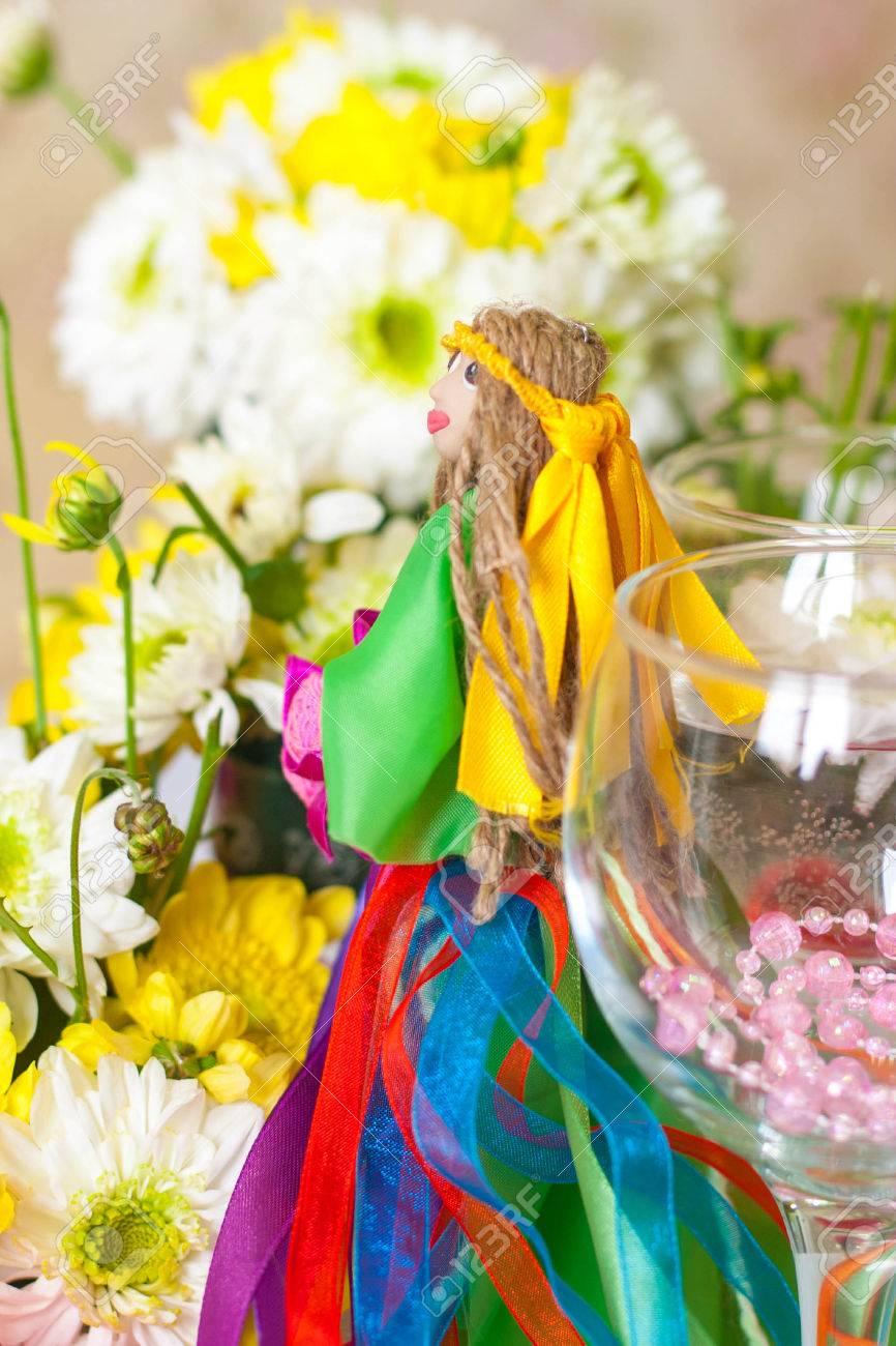 Decoración Para El Arreglo Floral Caminando Por El Jardín Diosa Del Verano