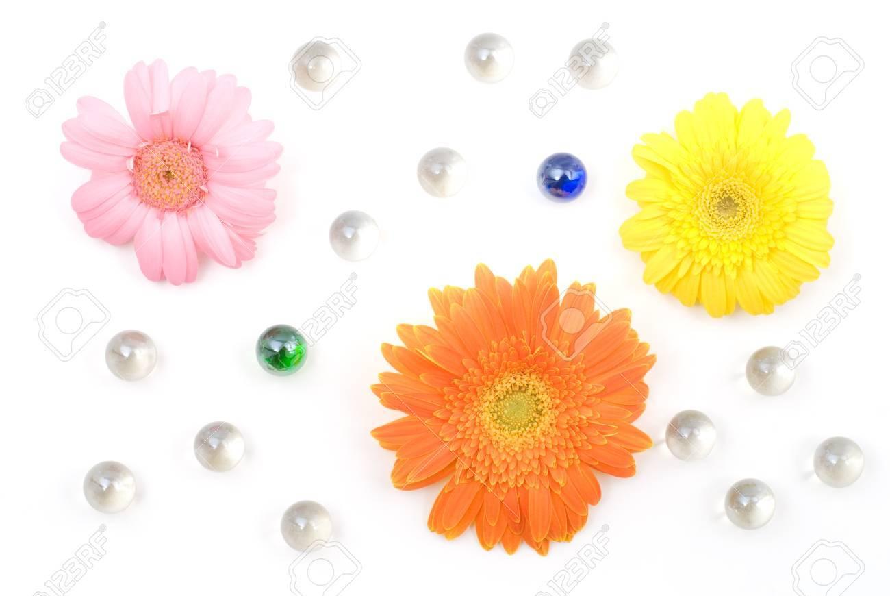 Gerbera daisy flower arrangements with glass bead isolated on gerbera daisy flower arrangements with glass bead isolated on white background stock photo 12052172 izmirmasajfo