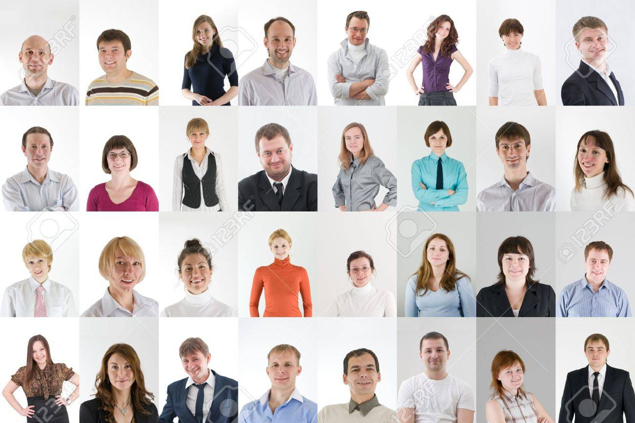 social network collage with a lot of people Stock Photo - 13370178