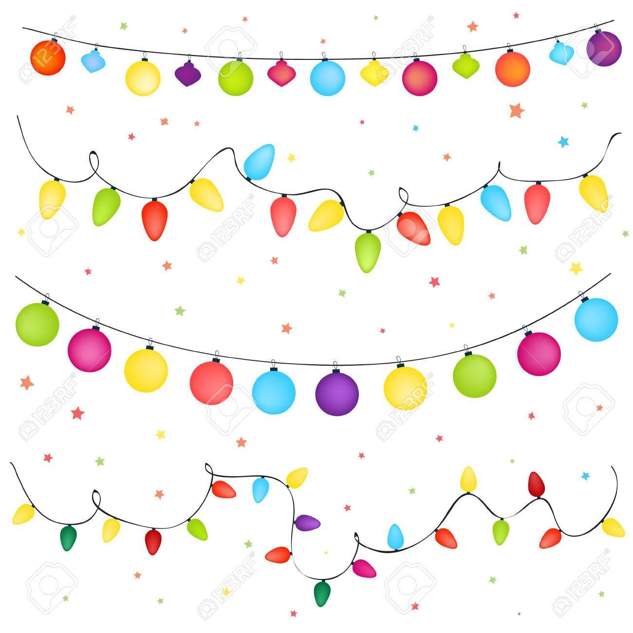 christmas lights background - 34366751