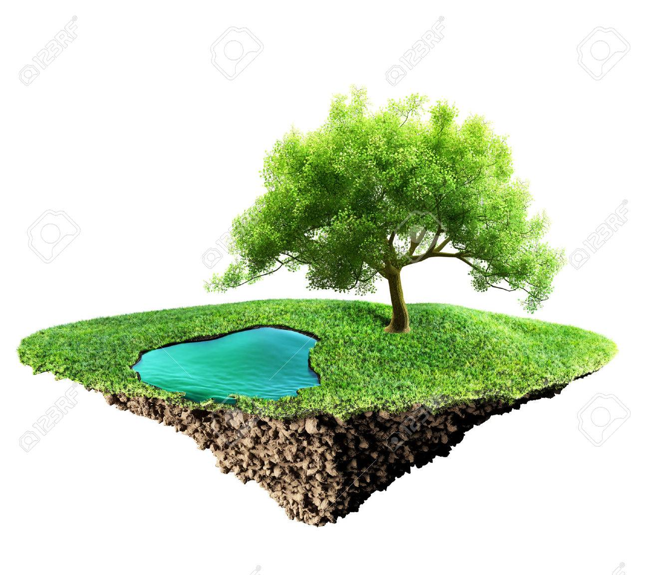 grass island and soil - 35362446
