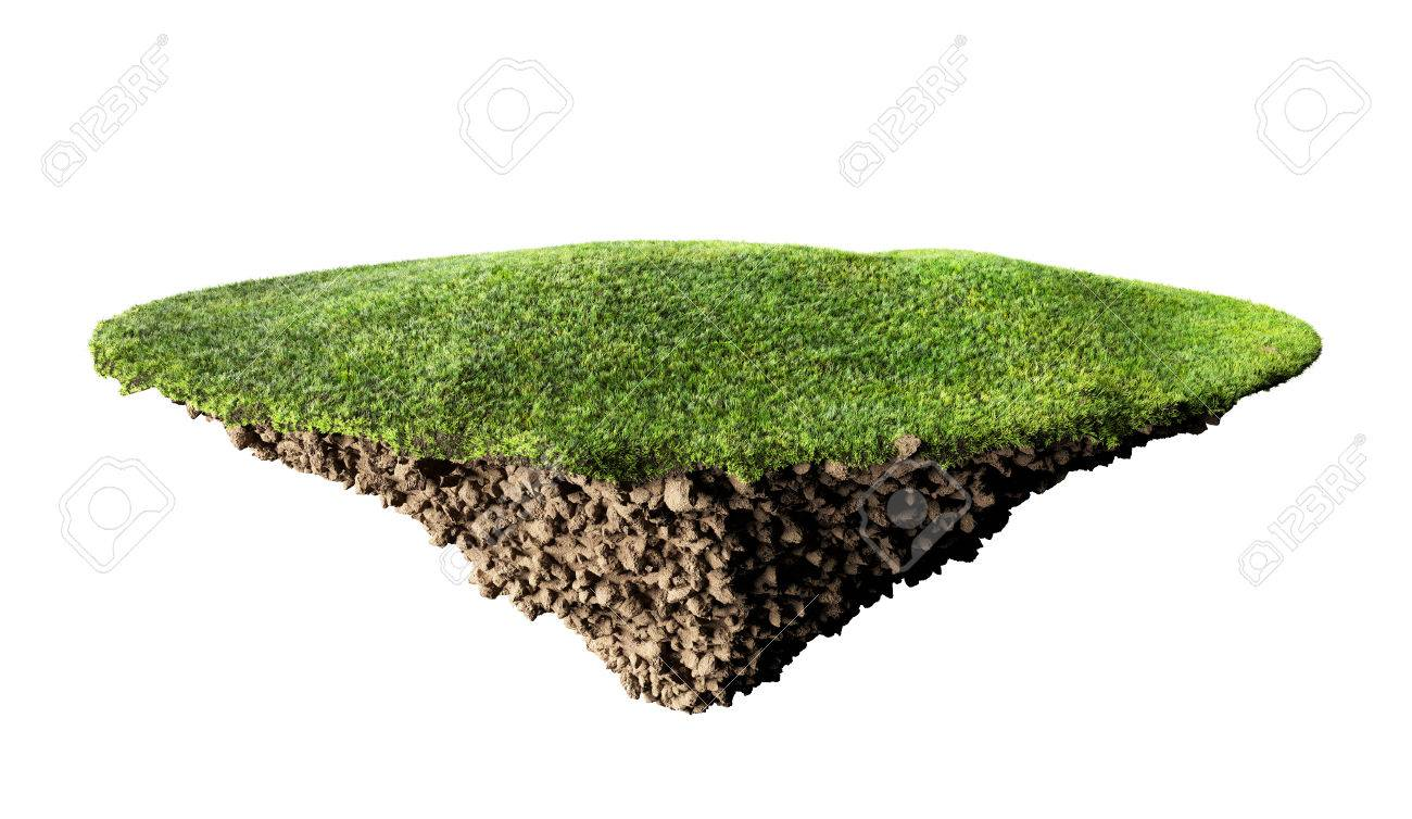 grass island and soil - 35362611