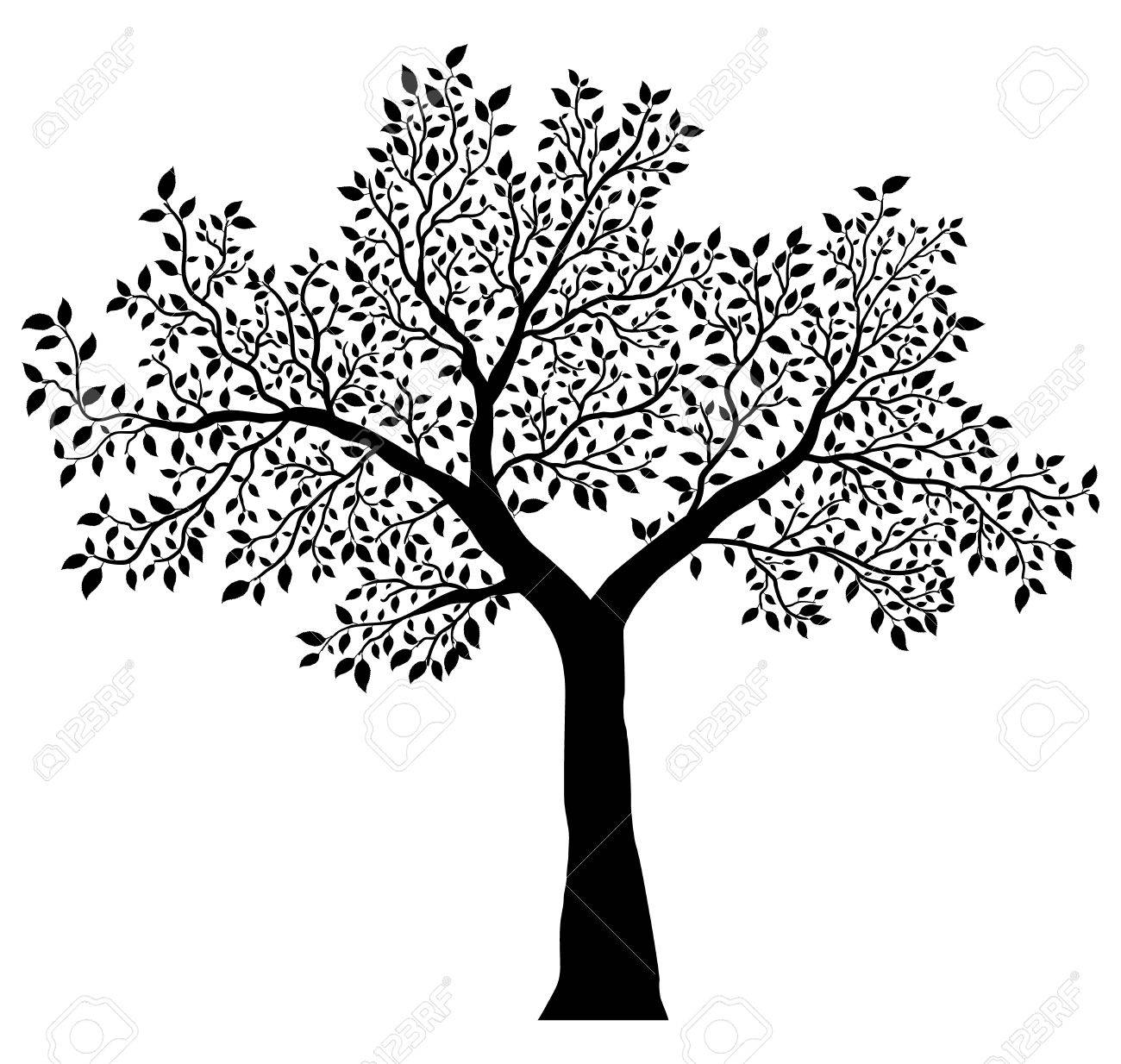 tree with leaves vector - 47039543