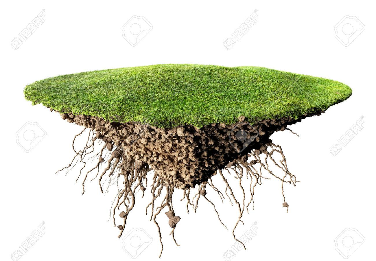 grass island and soil - 47039722