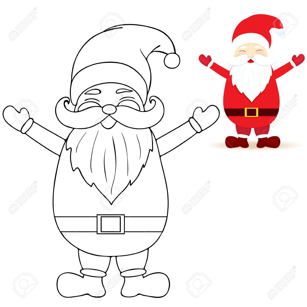 Santa Claus Coloring Pages Royalty Free Cliparts, Vectors, And Stock ...