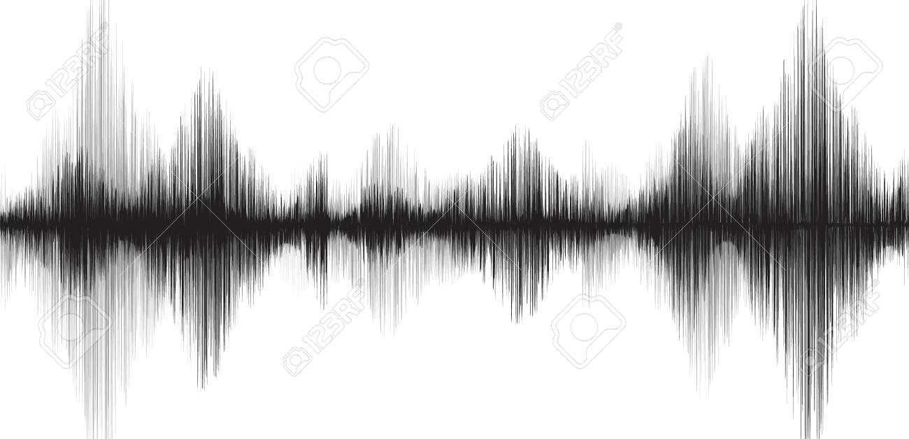 Classic Earthquake Wave on White paper background - 89854267