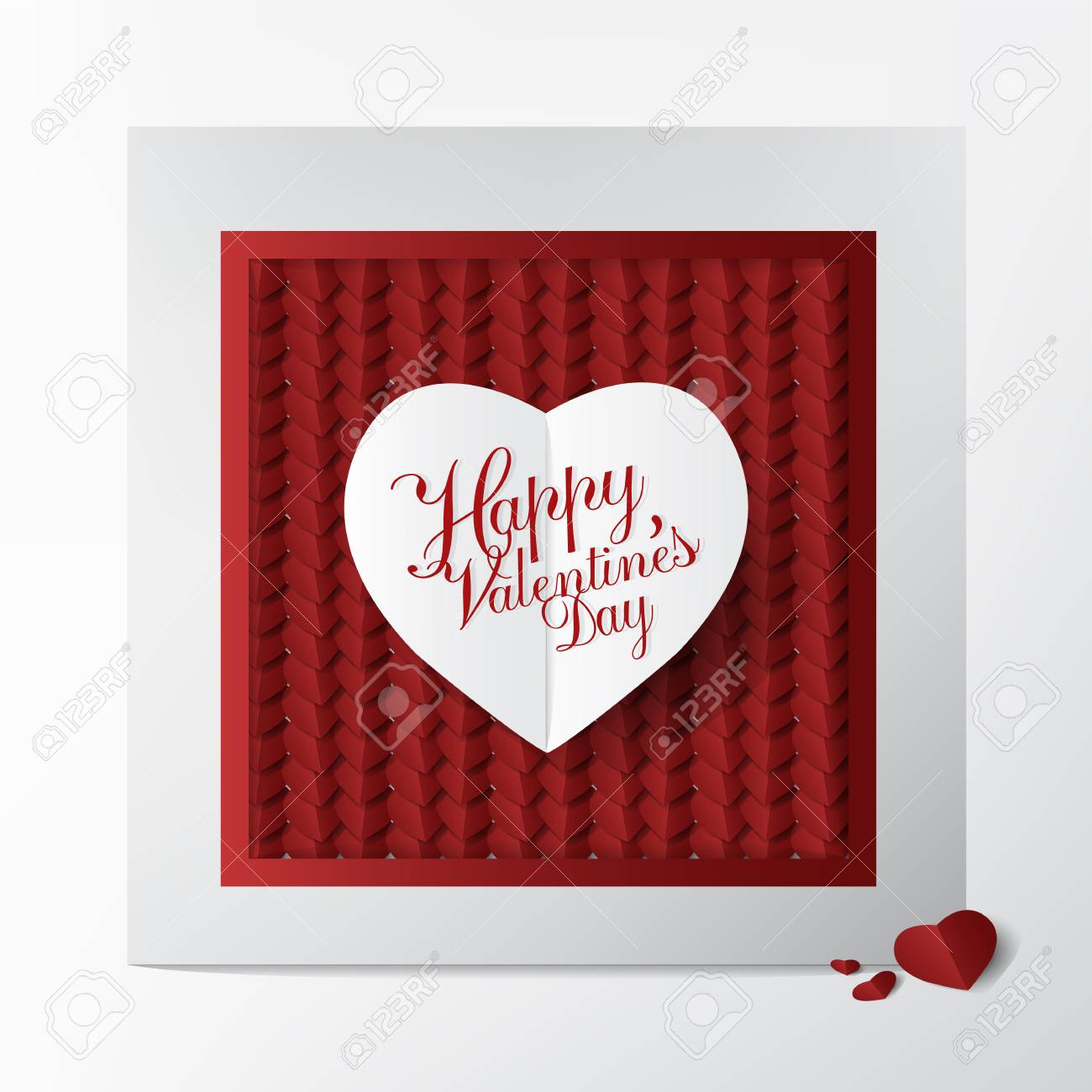 Modern Classic Greeting Card With Happy Valentines Day Typography Royalty Free Cliparts Vectors And Stock Illustration Image 94118494