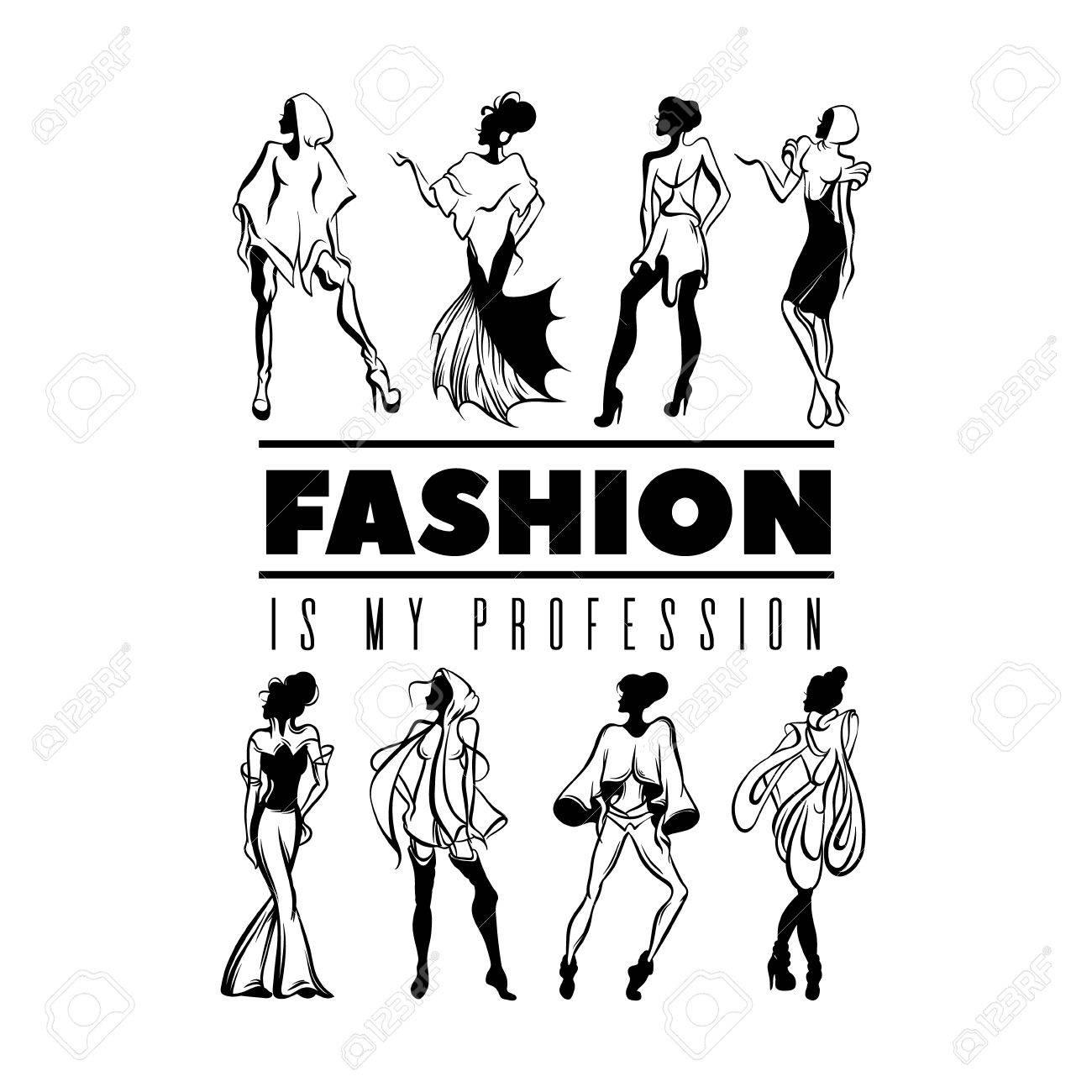 Mi Profesión Es La Moda. Cita El Fondo Tyoigraphical. Vector ...