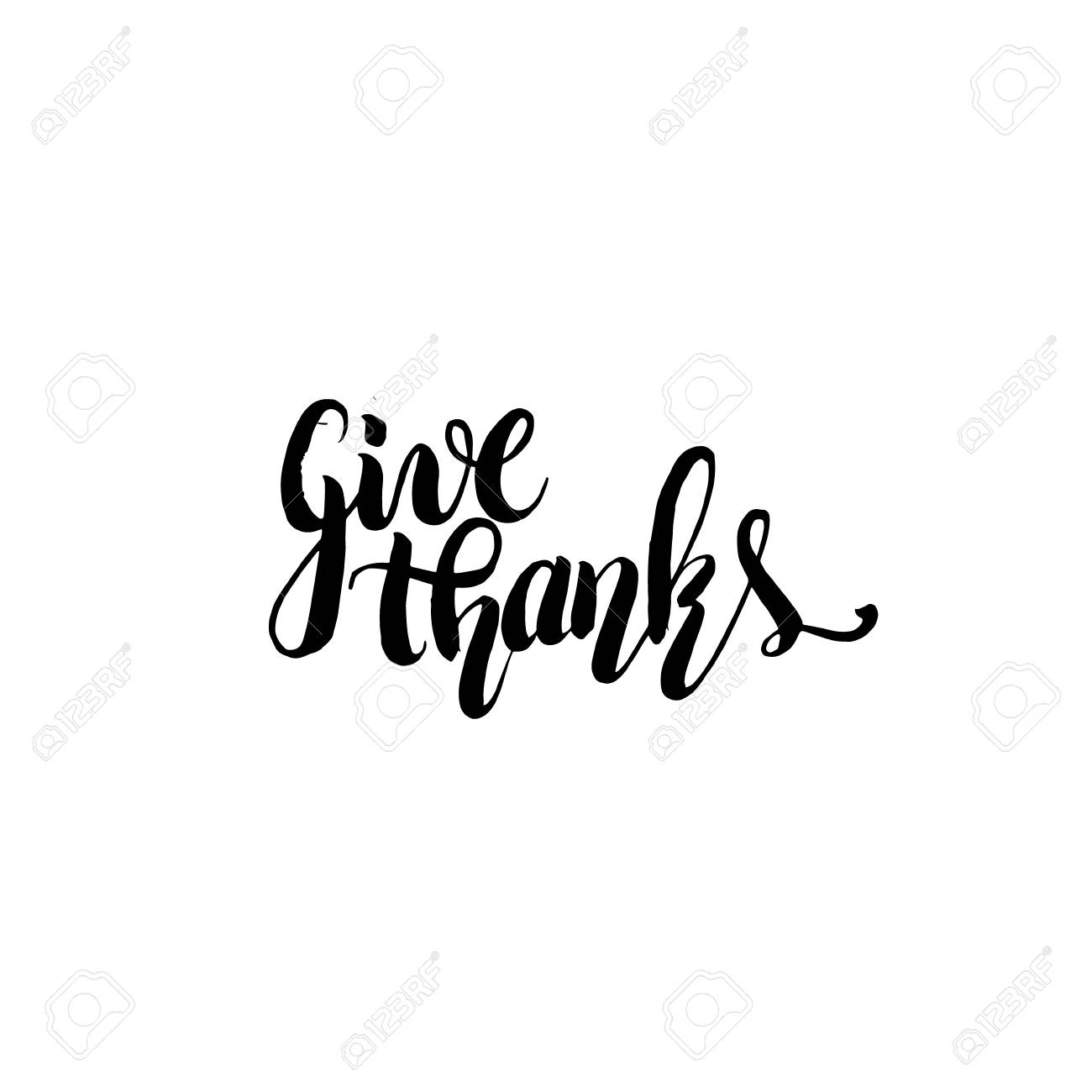 Quote Typographical Background For Thanksgiving Day Give Thanks