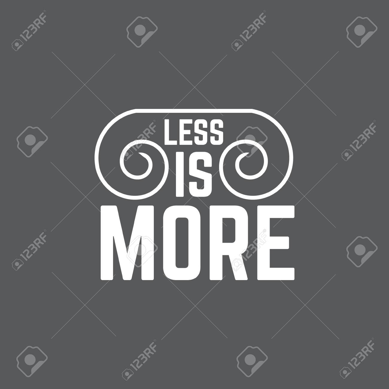 Less Is Morequote Minimalistic Typographical Background With