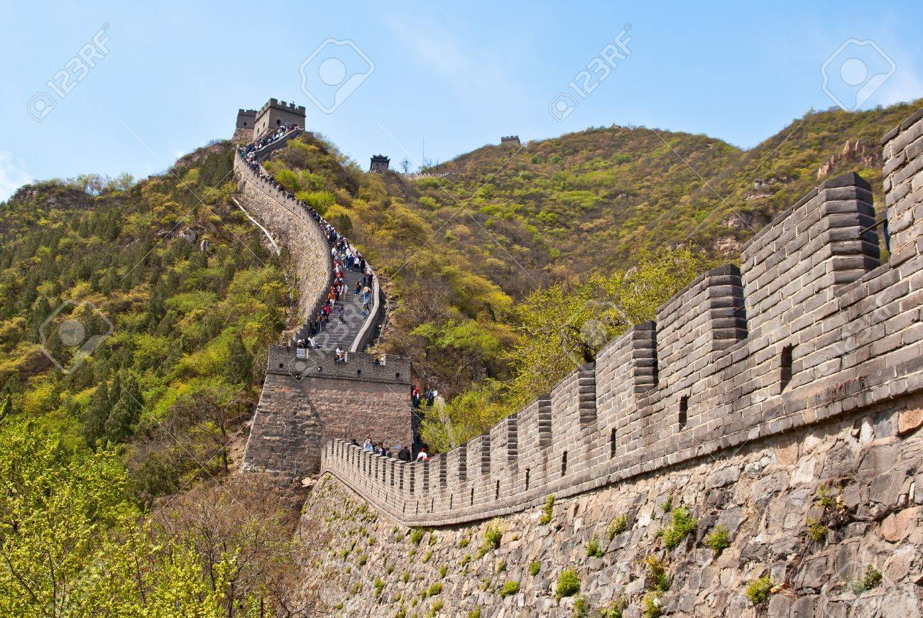 Great wall of China. Badaling, China Stock Photo - 12427427