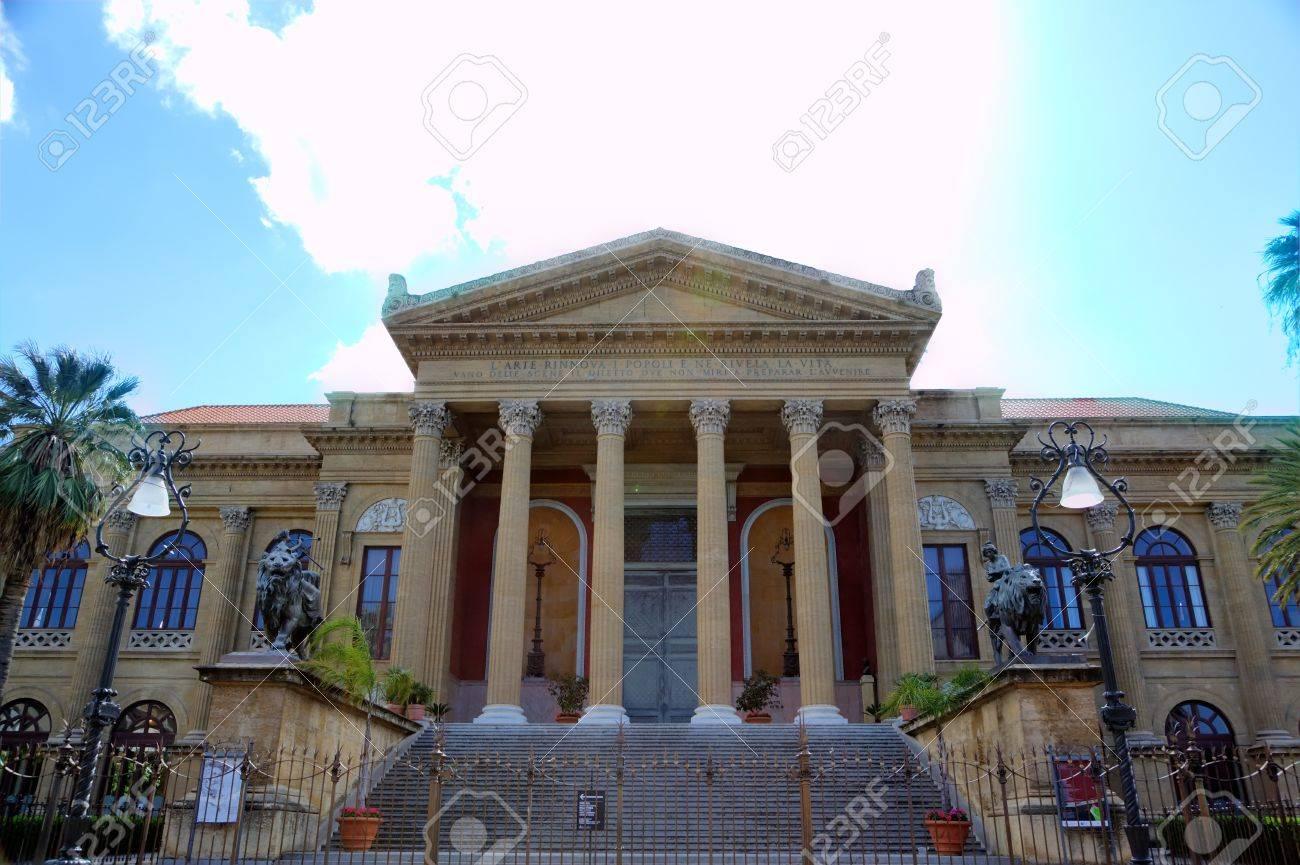 Teatro Massimo - opera house in Palermo Sicily, Italy