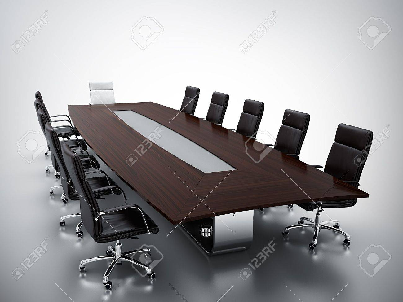 3d render of empty conference room Stock Photo - 13002907