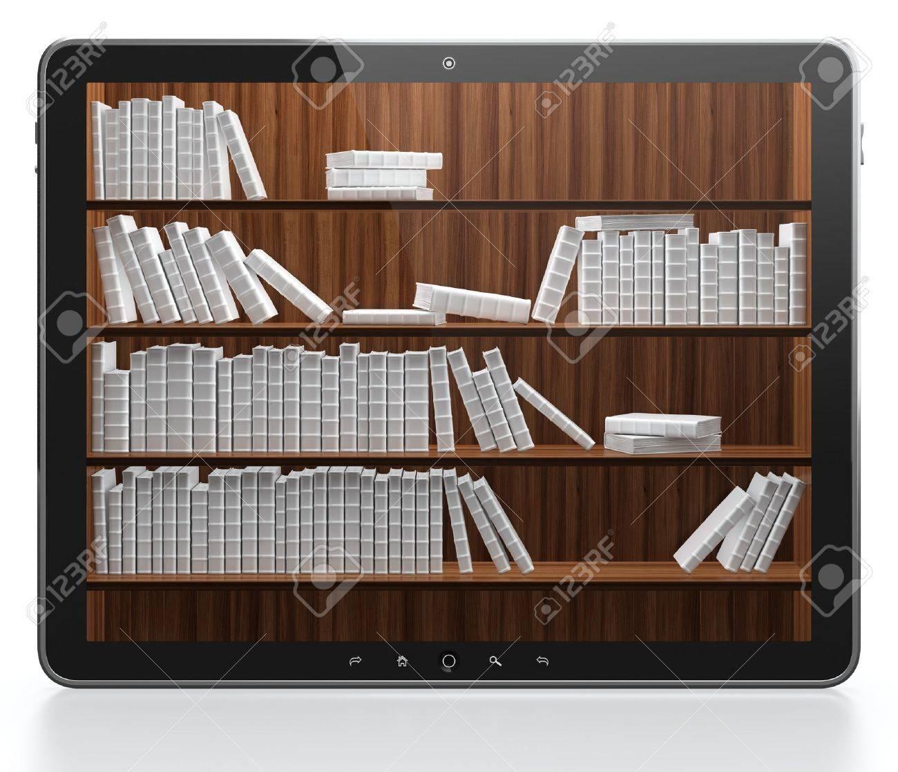 3D illustration of digital library concept Stock Illustration - 14729161