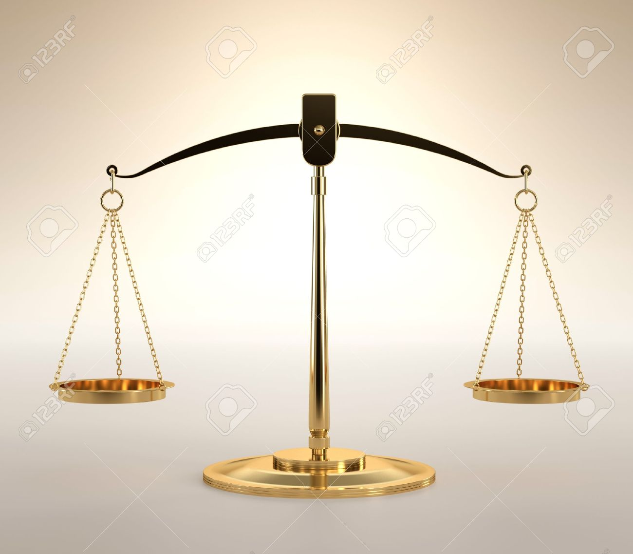 3D illustration of scales of justice on orange background Stock Photo - 16306820