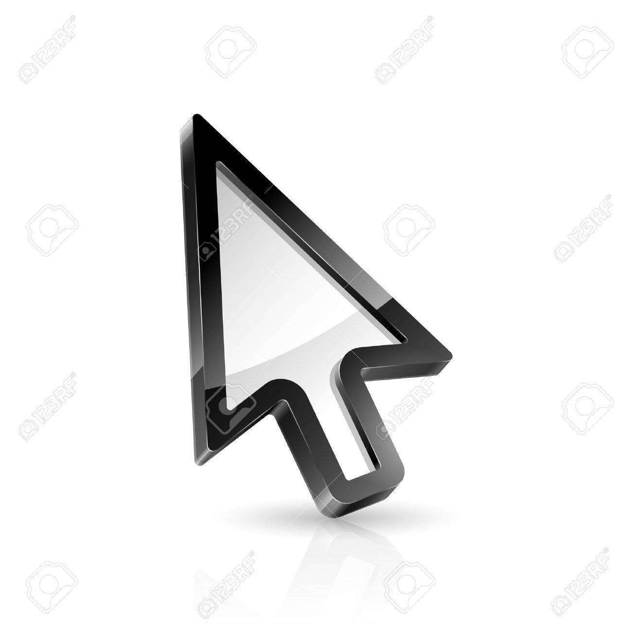 Vector illustration of arrow cursor on white background Stock Vector - 18454387