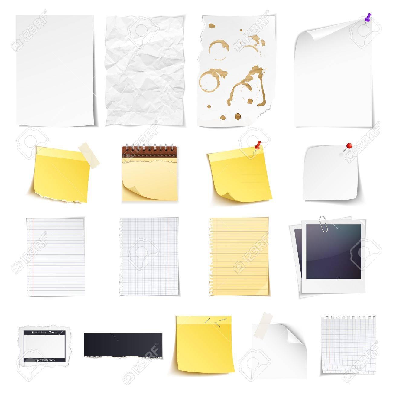 Design-Elemente Notebook, Einfaches Weißes Papier, Grunge ...