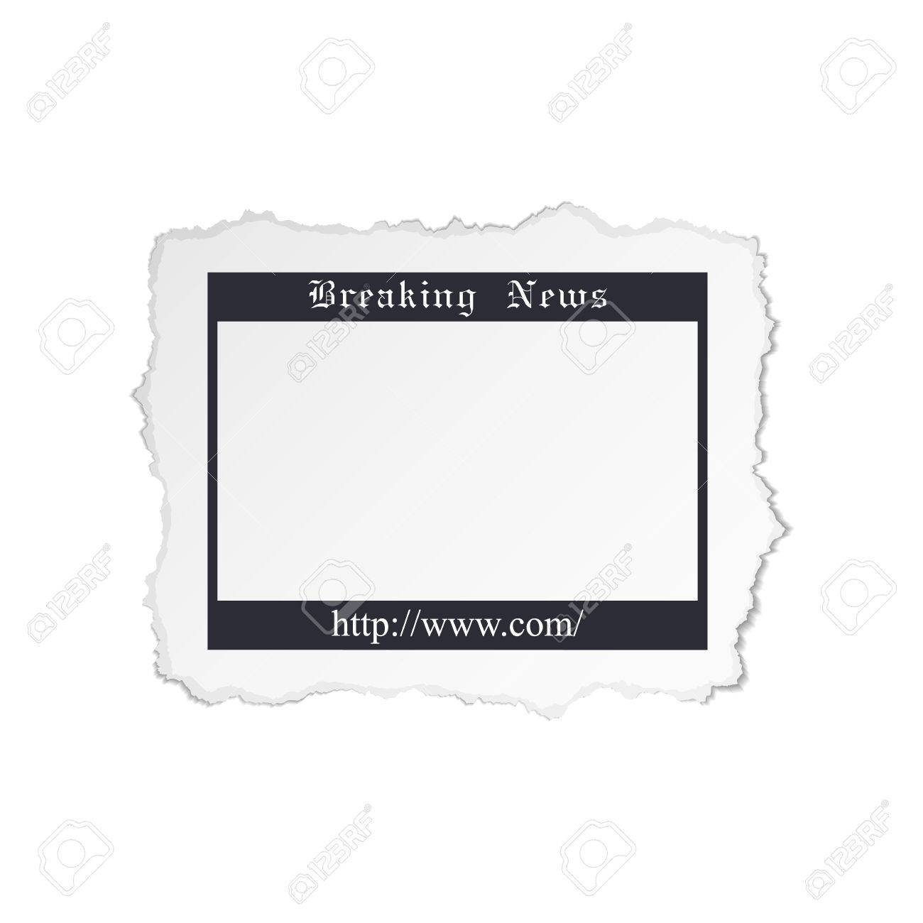 Torn piece of newspaper isolated on white background Stock Vector - 23268484
