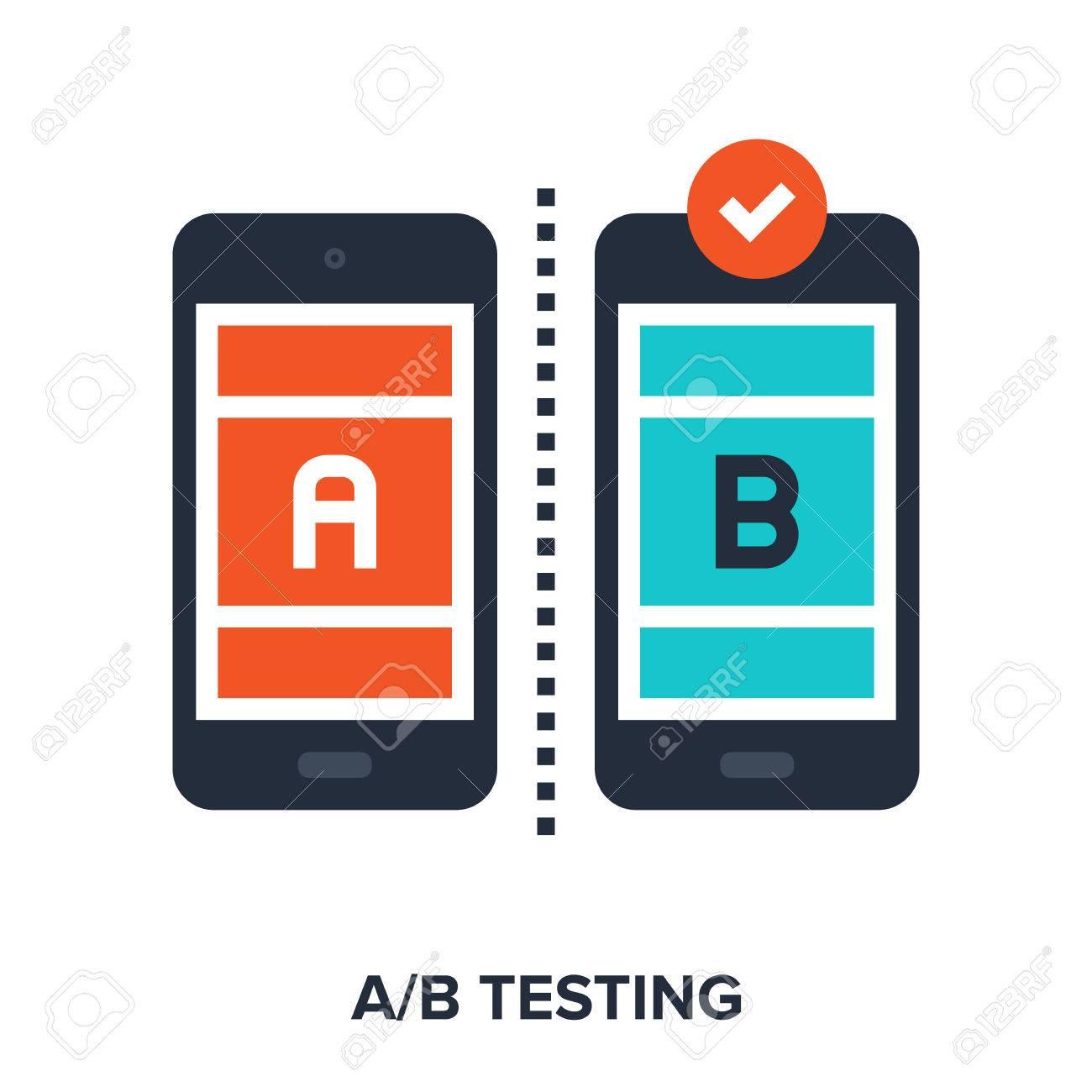 Vector illustration of ab testing flat design concept. - 60932634