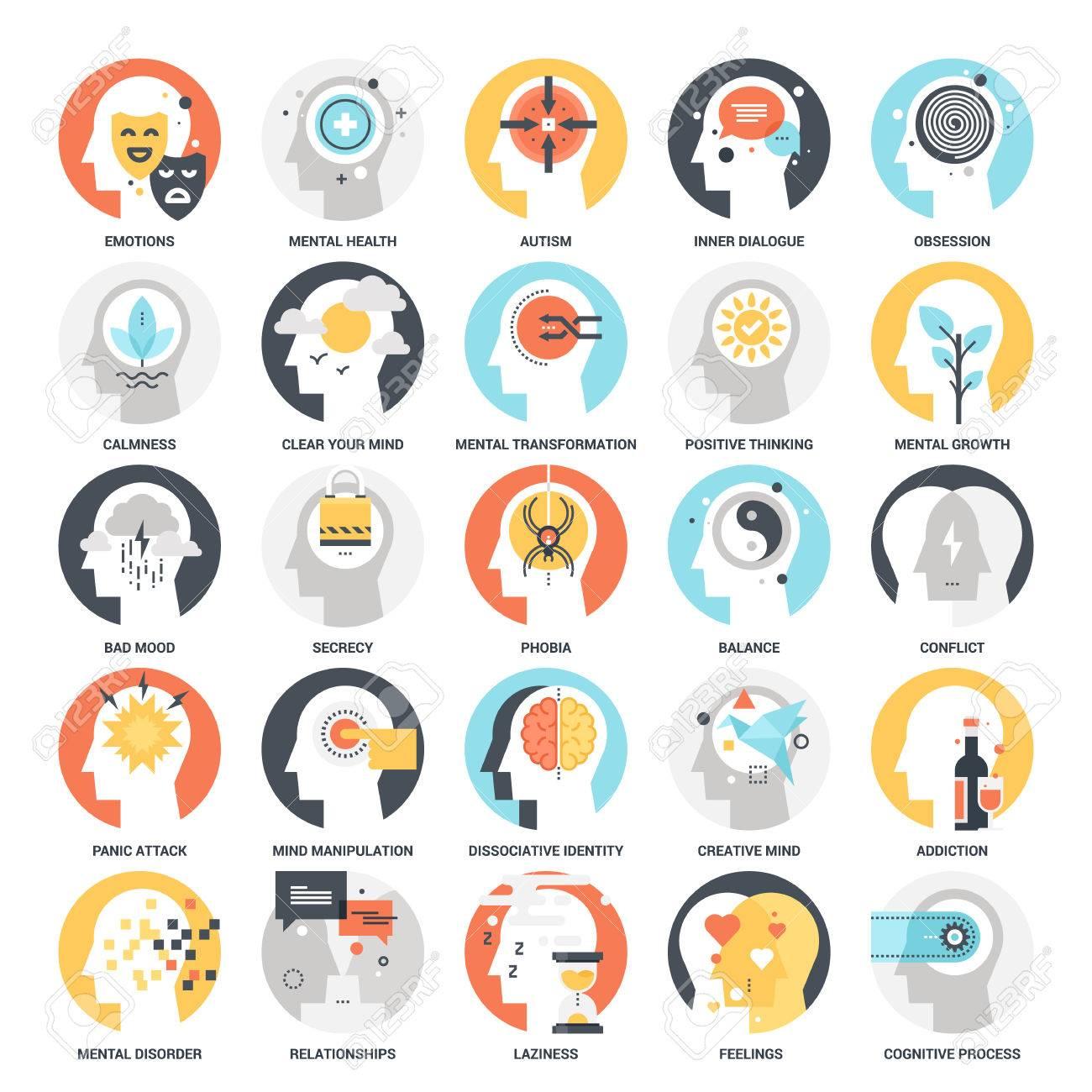 Human Psychology Icons - 70982889