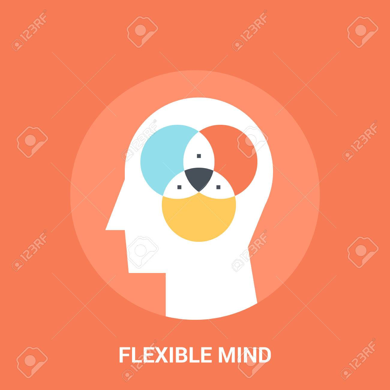 Abstract vector illustration of flexible mind icon concept - 70983056