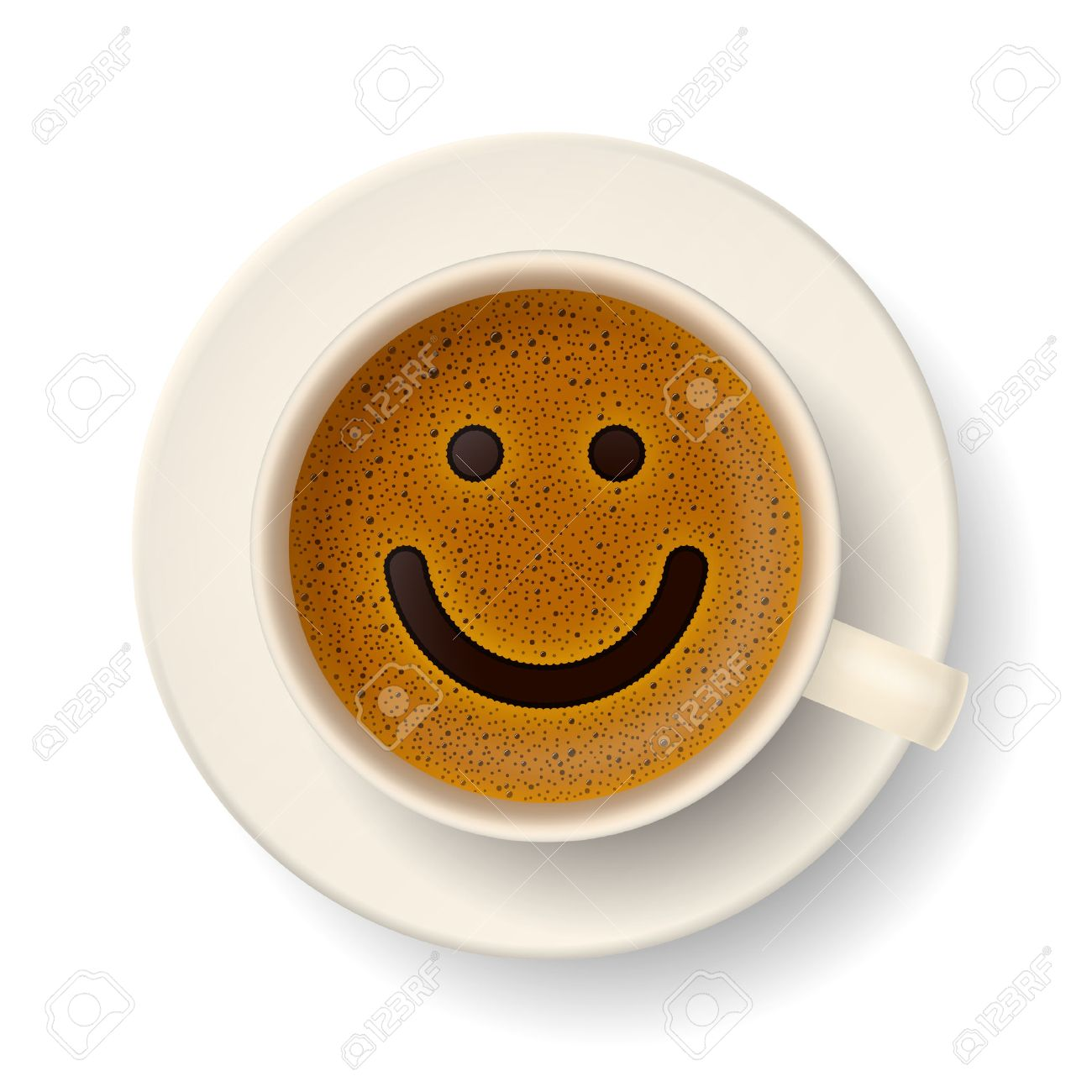 Smiley Face Coffee Mug Coffee Cup With Froth In The Form Of Smiley Face Good Mood And