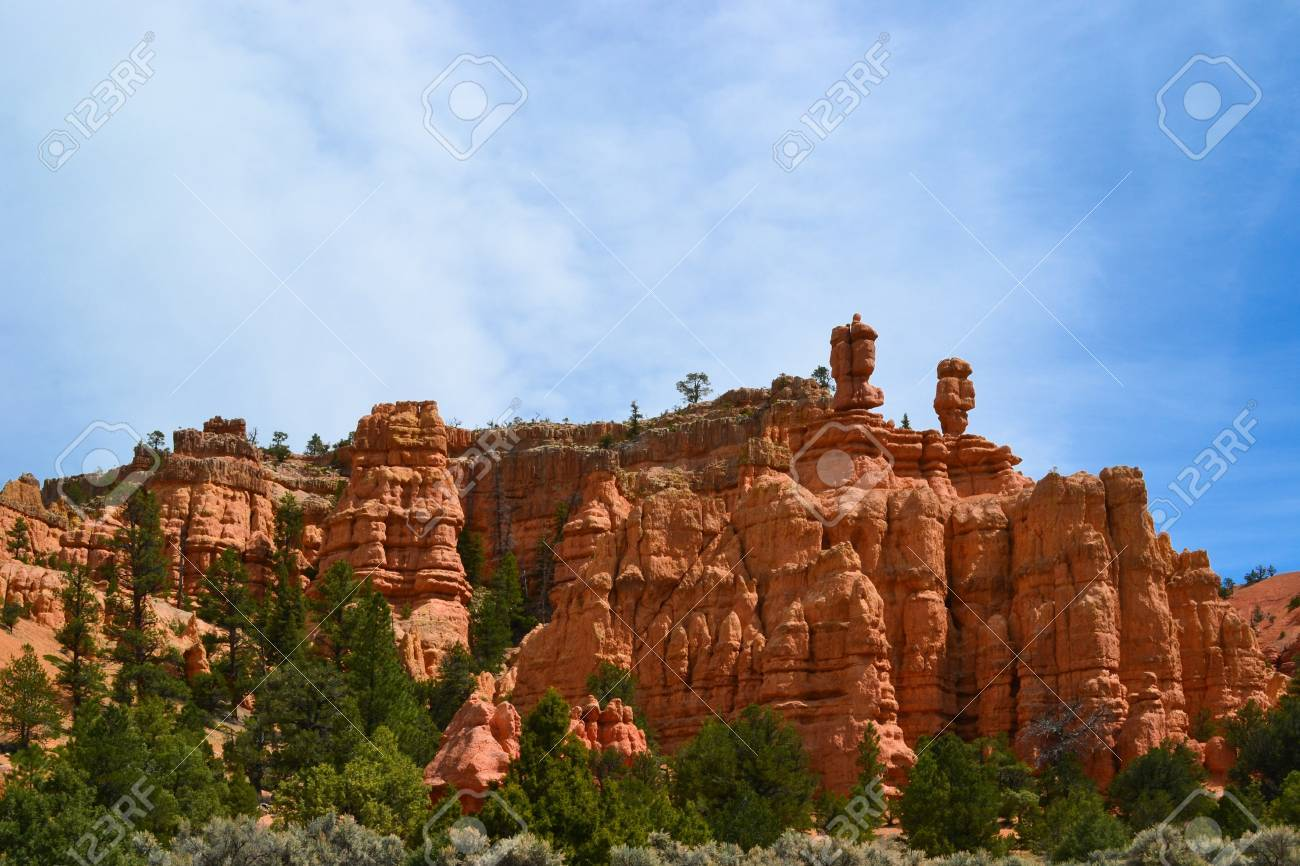 Rock Formations in Bryce Canyon National Park, Utah Stock Photo - 14186923