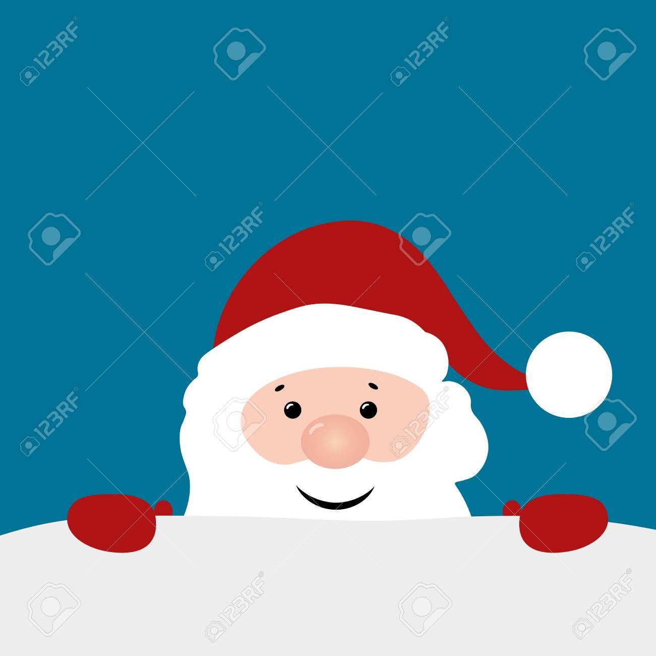 Weihnachtshintergrund Mit Santa Claus. Frohe Weihnachten Und Happy ...