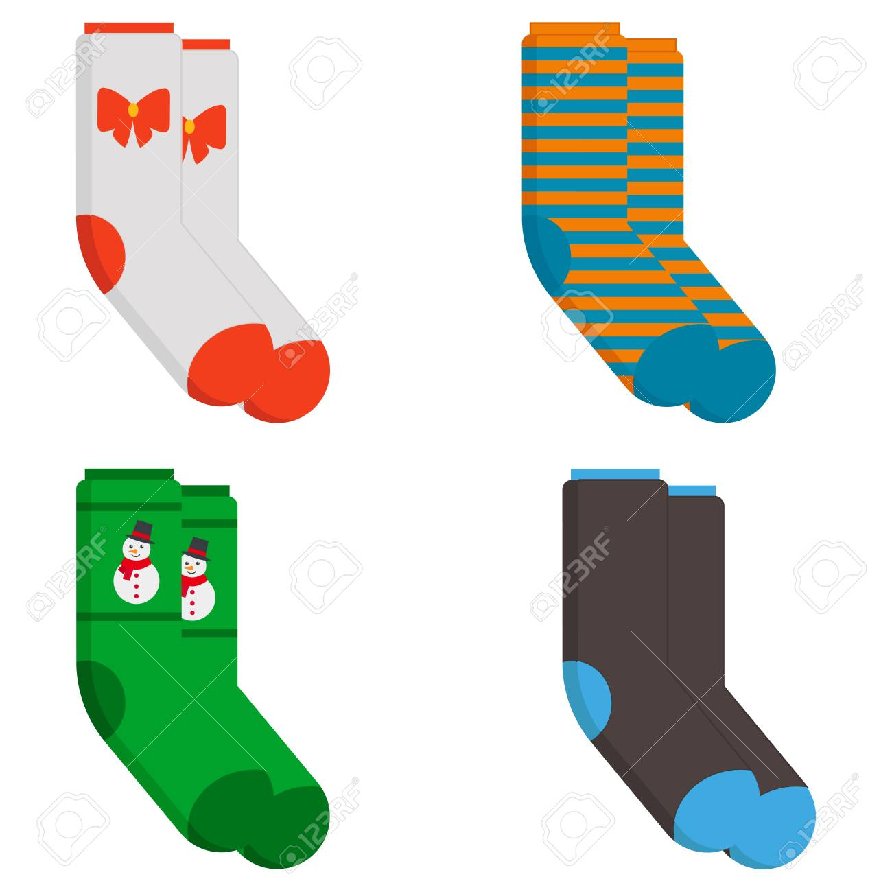 Winter socks icon. Flat illustration of winter socks vector icon for web design - 114946684