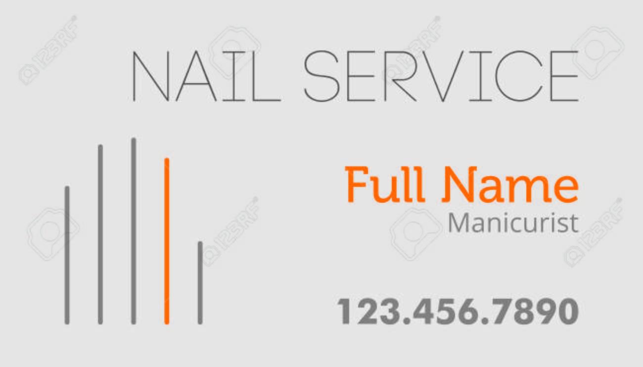 Carte De Visite Service Nail Modele Design Plat Clip Art