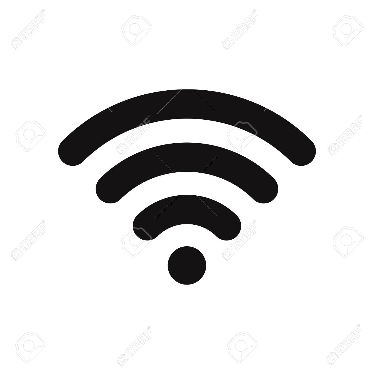 wifi signal icon, wireless symbol connection, internet, network Wireless Network Connection Symbol vector wifi signal icon, wireless symbol connection, internet, network flat vector sign isolated on white background simple vector illustration for
