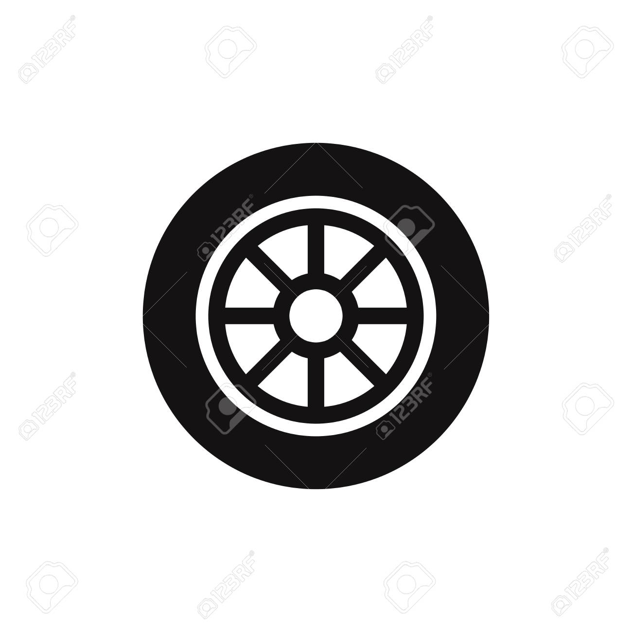 fc20aeeca6ed8a Car Wheel Vector Icon Royalty Free Cliparts, Vectors, And Stock ...
