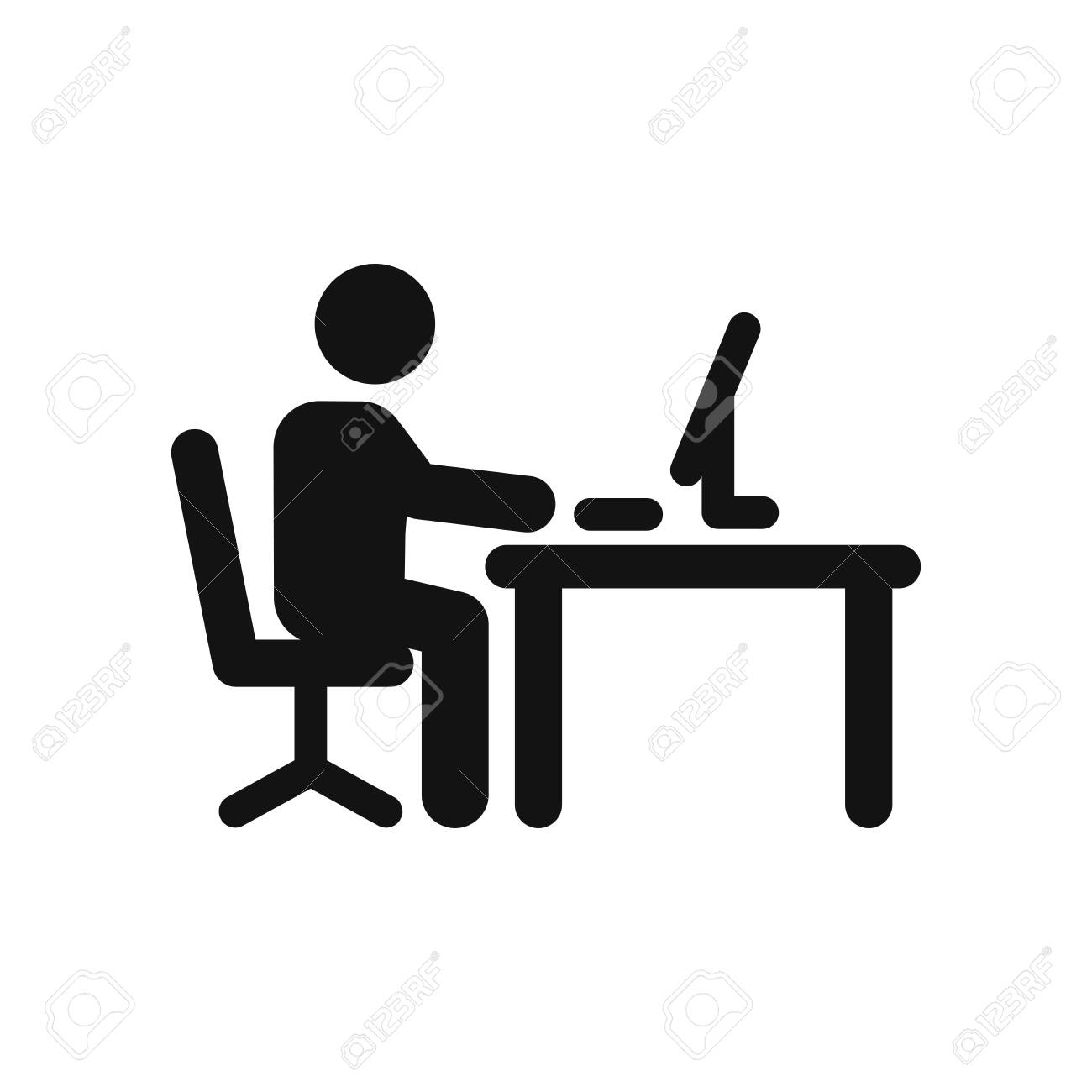 Office worker vector icon - 120748225