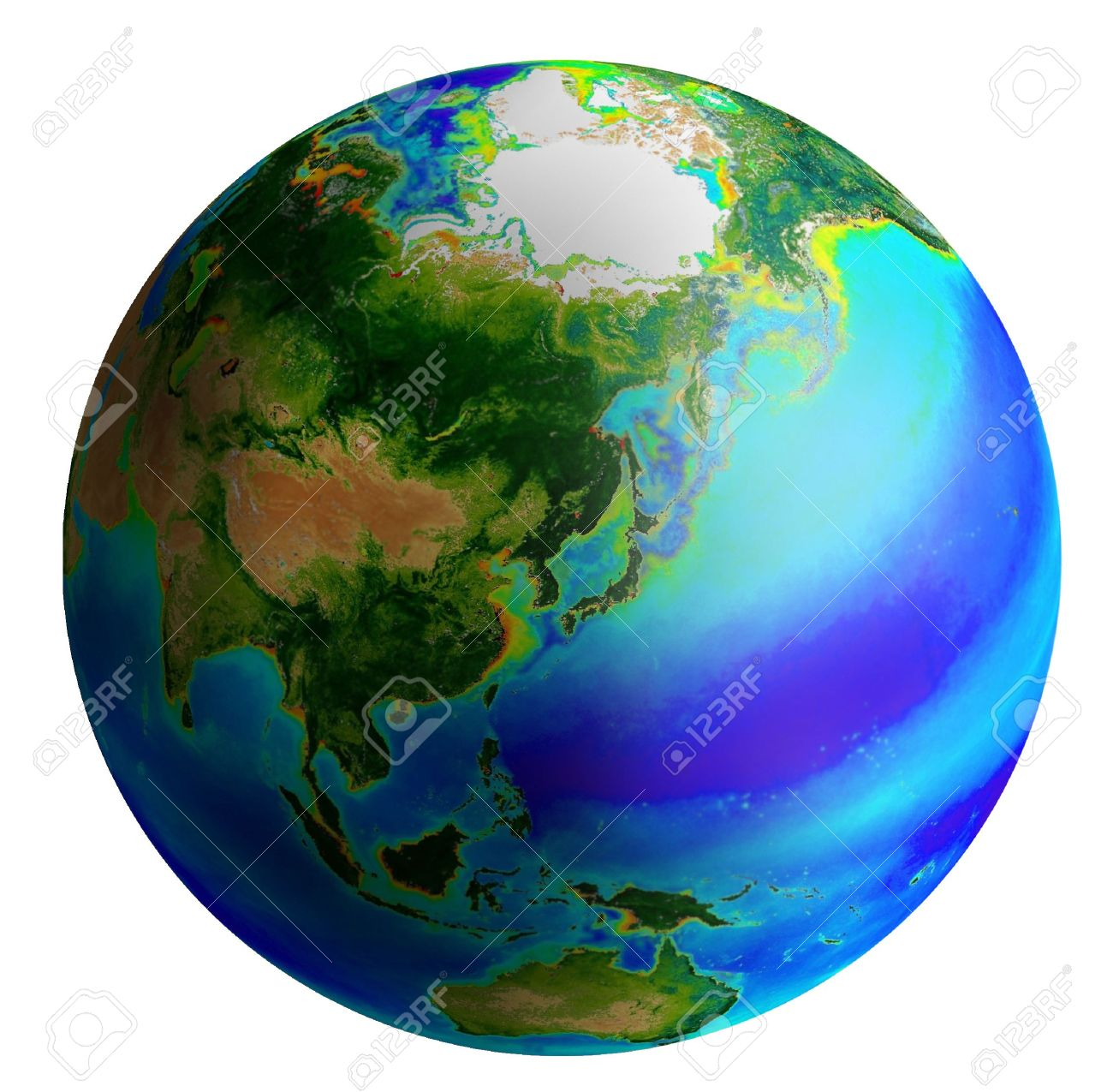raster image of earth from asia side Stock Photo - 4311581
