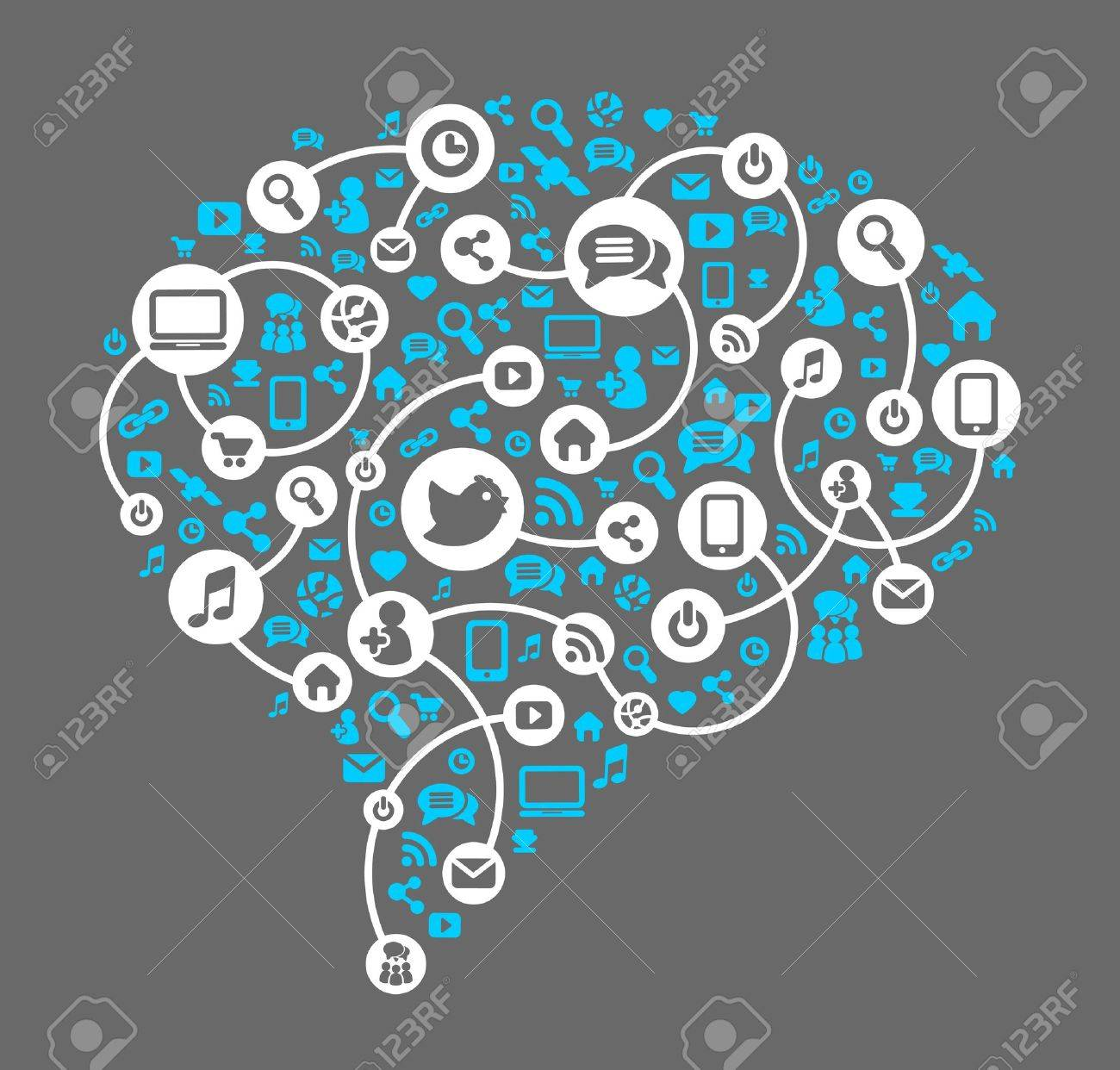 Social media, background of the icons vector Stock Vector - 17585001