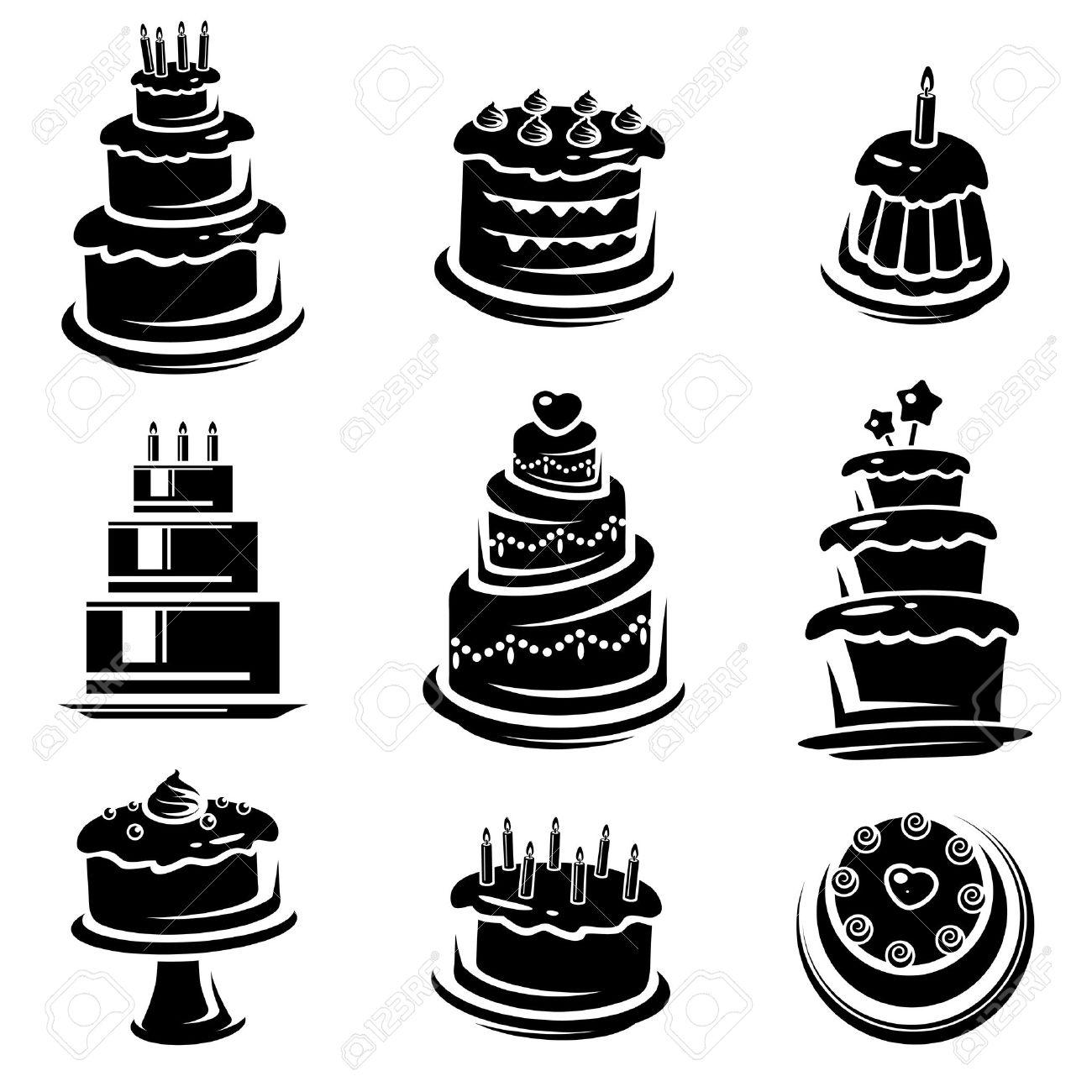Cake set  Vector Stock Vector - 21479271