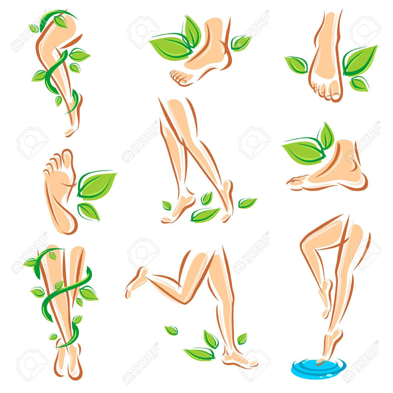 Healthy legs set Vector - 26056427