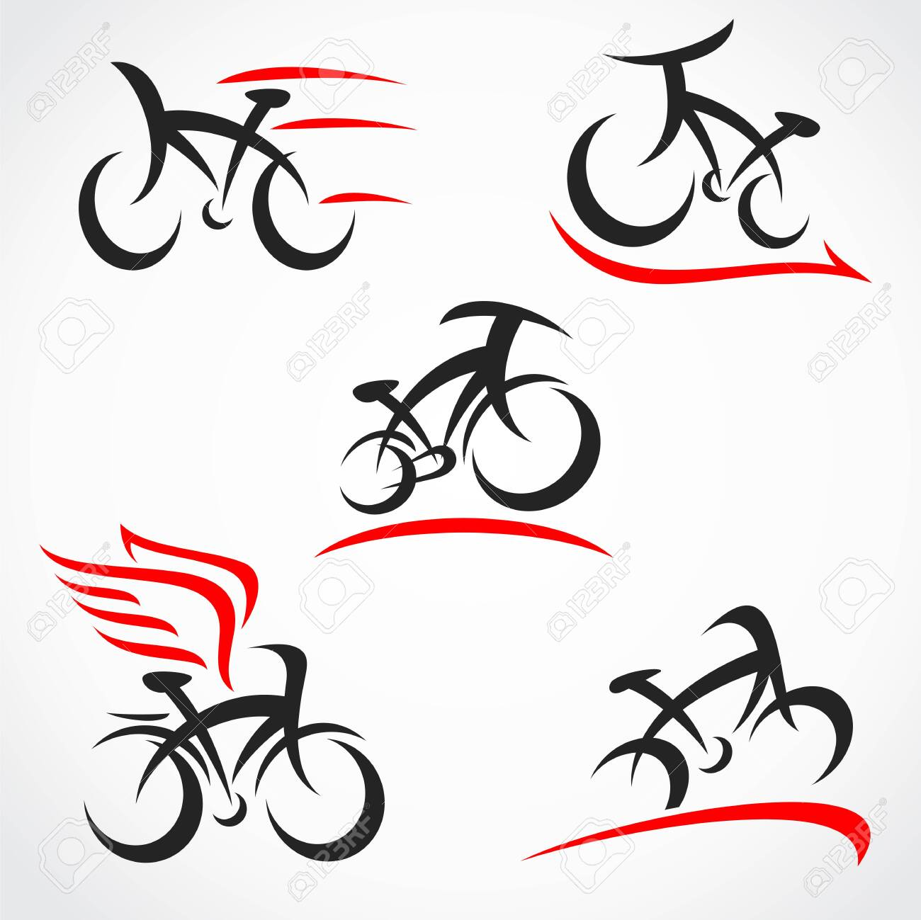 Bicycle set. Collection icon bicycle. Vector - 133677261