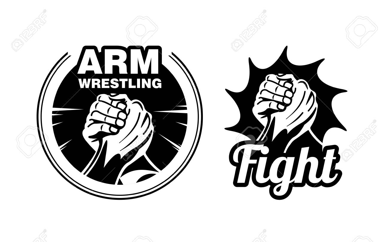 Arm Wrestling Logo Vector Illustration Royalty Free Cliparts Vectors And Stock Illustration Image 95299651