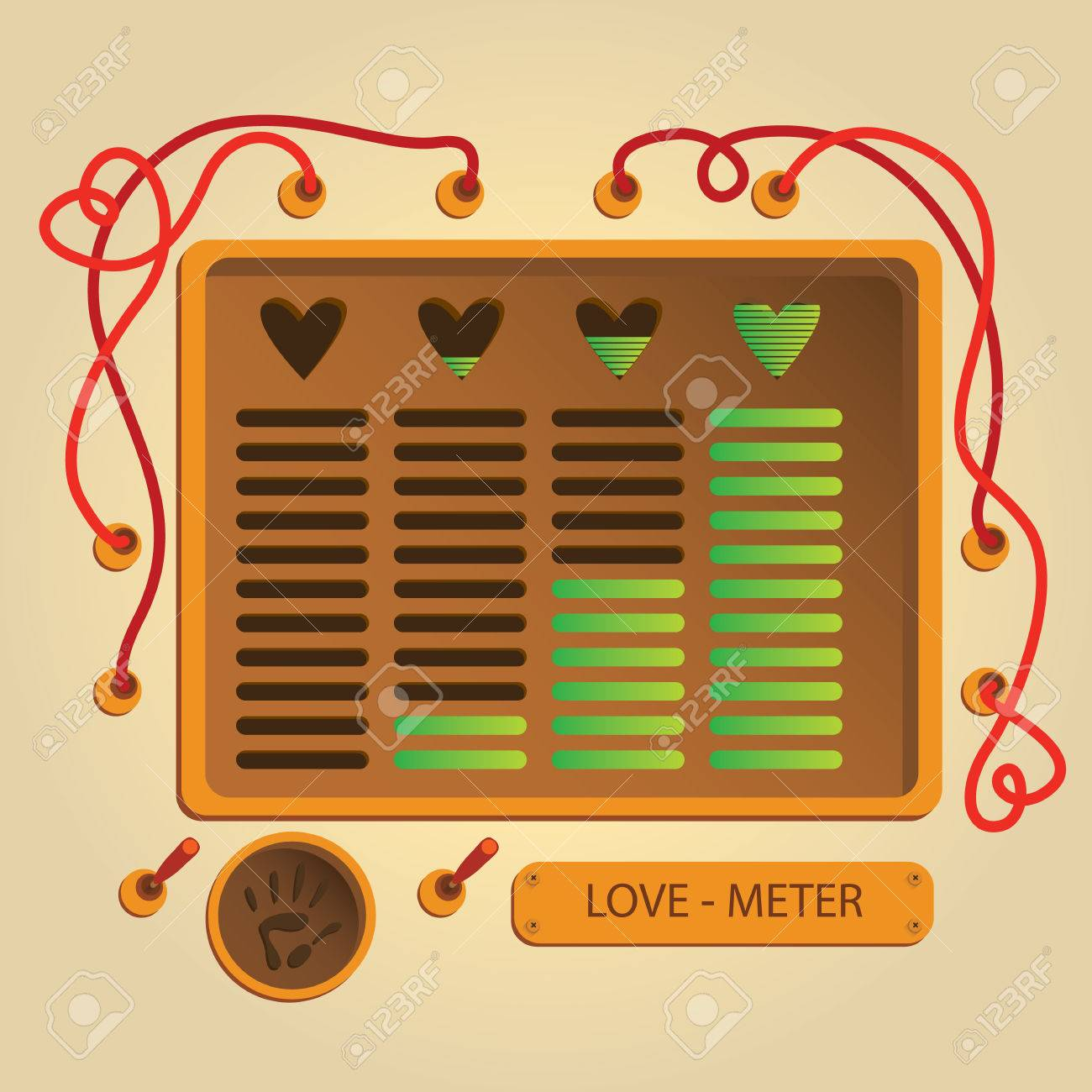 Love meter mashine. card for Valentine's day - 72281133