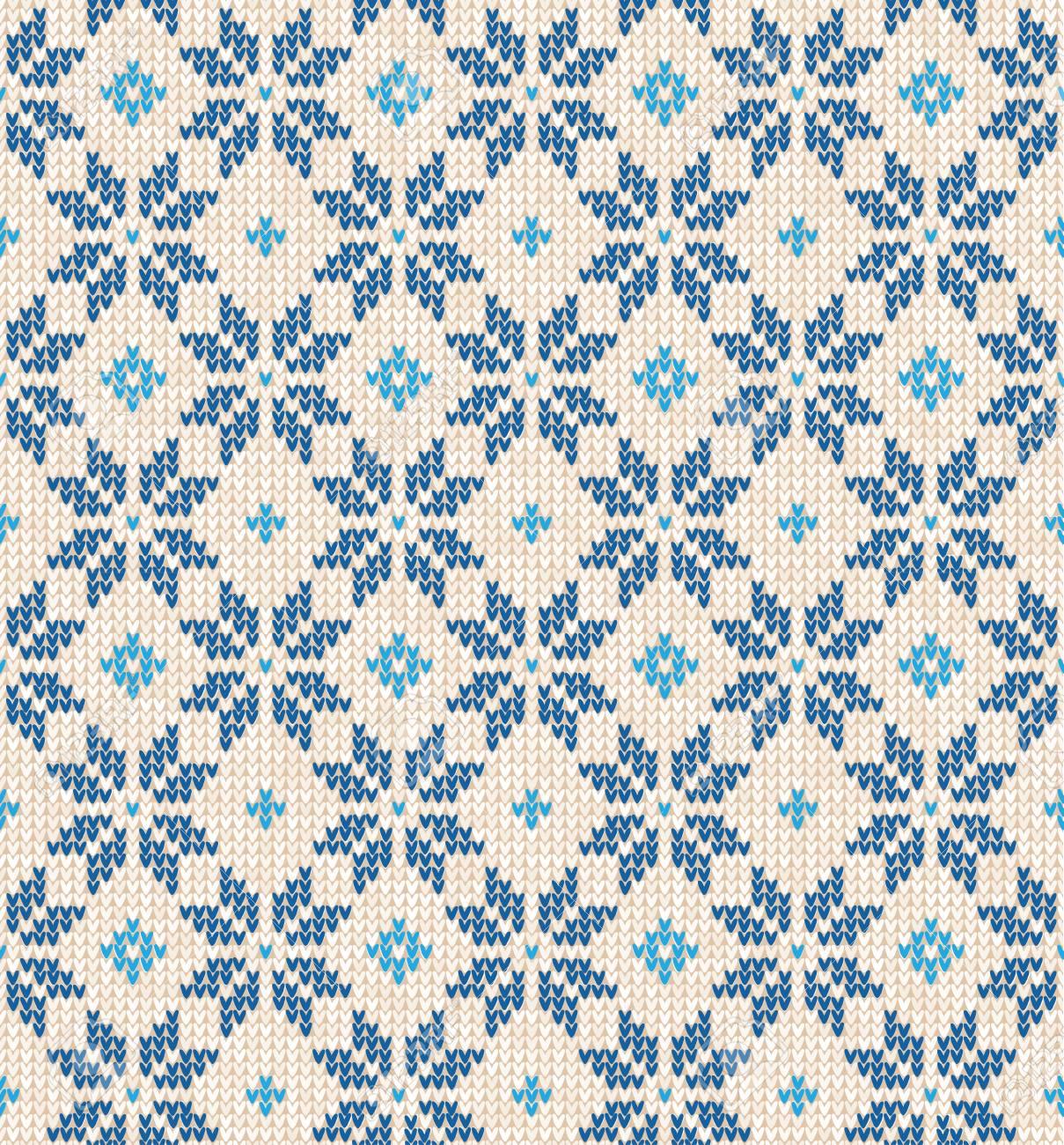 Skandinavische muster blau  Vektor-Illustration Weihnachten Skandinavischen Stil Flache Weiße ...